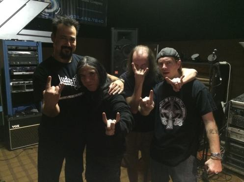 Marc, James Rivera, Robert and Dr. Froth at the studio.